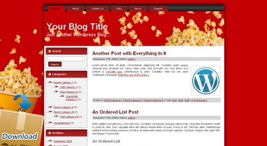 Free Movie WordPress Theme - Featured Image