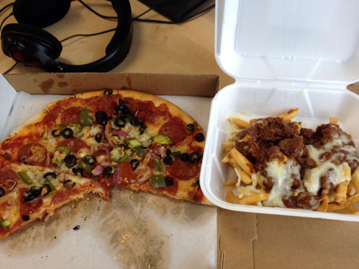 Tower Pizza & Chili Cheese Fries