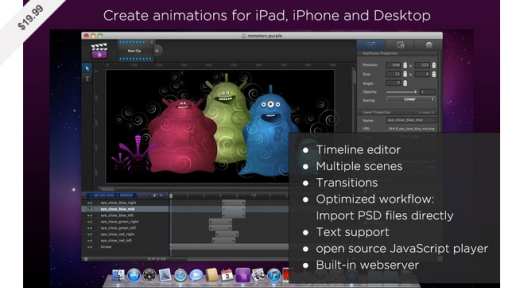 Purple HTML5 Animator