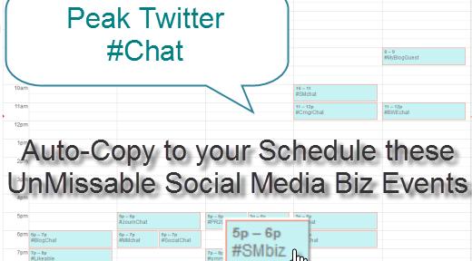 Twitter Chat Calendar