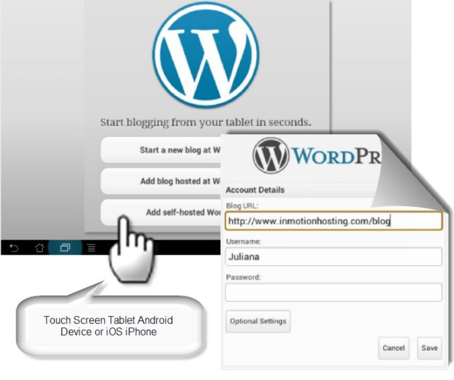 wordpress app setup