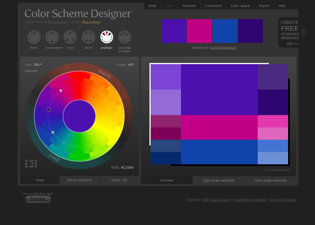 Color Designer Captivating With Color Scheme Designer Photo