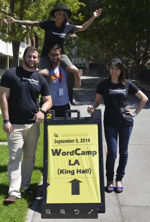 InMotion Hosting has arrived at Word Camp LA!