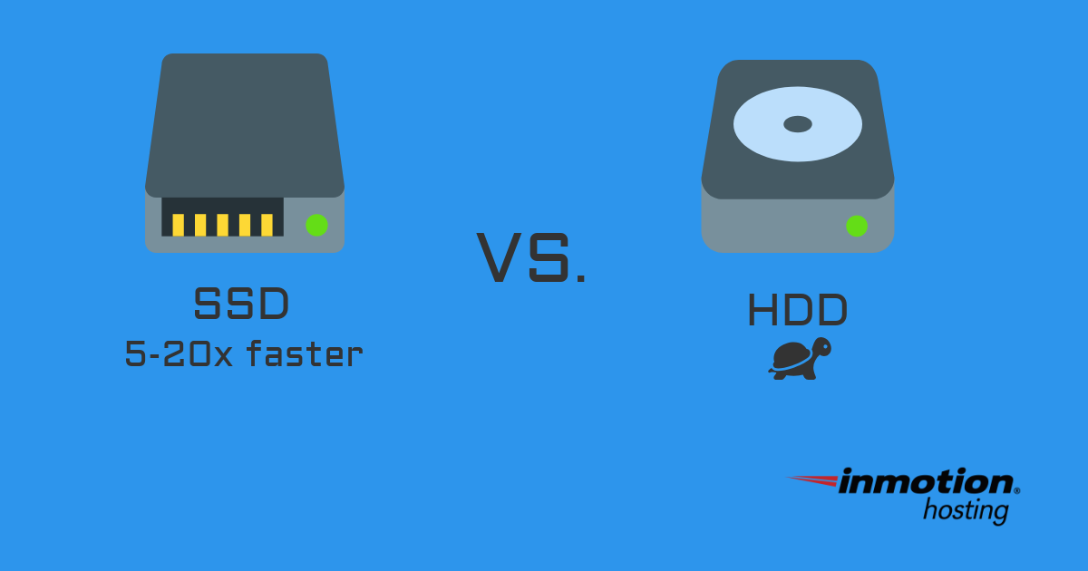 SSD is faster than HDD | InMotion Hosting