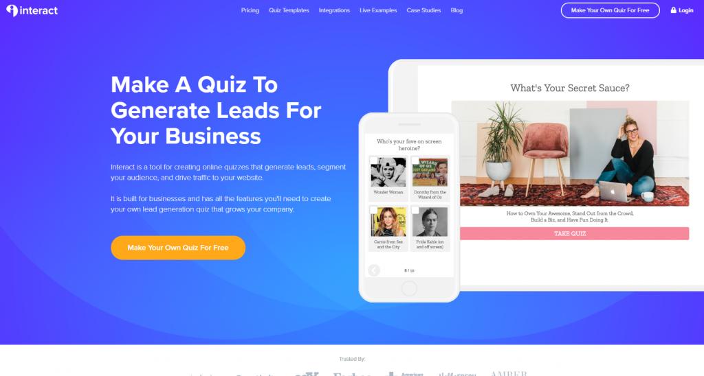 interact quiz maker wordpress plugin