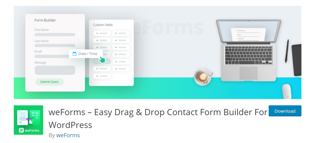 WeForms WordPress plugin to allow blog post submissions