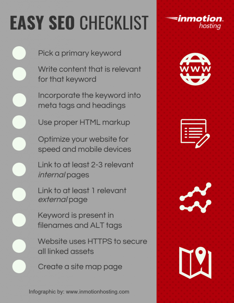 An SEO checklist can help your content stay on target.