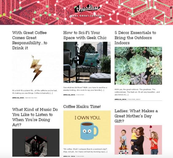 Image of unique blog design.