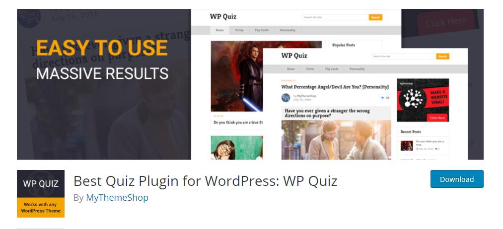 WP quiz plugin for wordpress