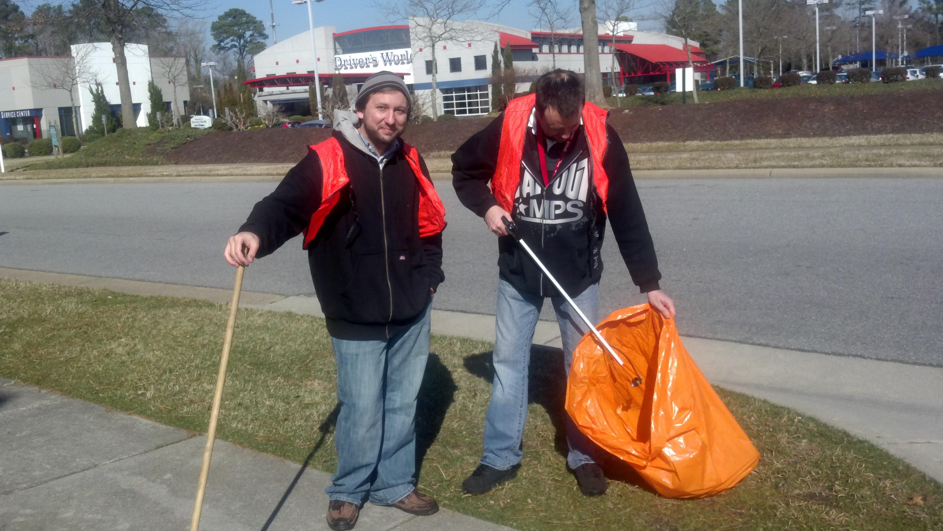 Brad and Scott hard at work.