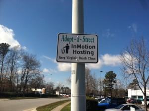 Adopt-a-Street IMH Sign