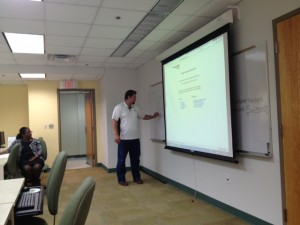 Tony teaching Web Hosting Basics