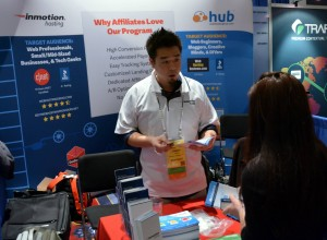 Affiliate Manager, Jason Hong interacting with an affiliate.