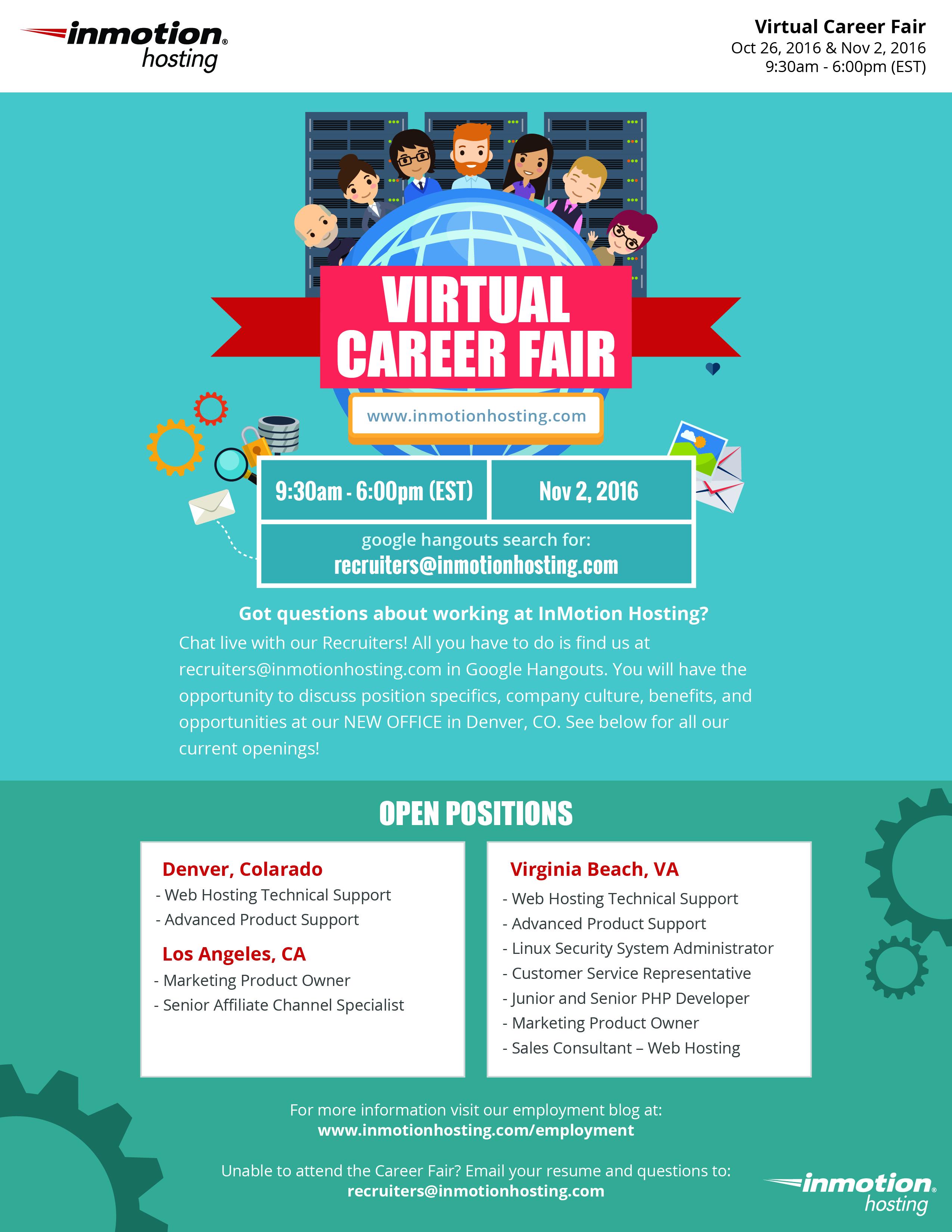 Inmotion Hosting Virtual Career Fair Inside Inmotion Hosting