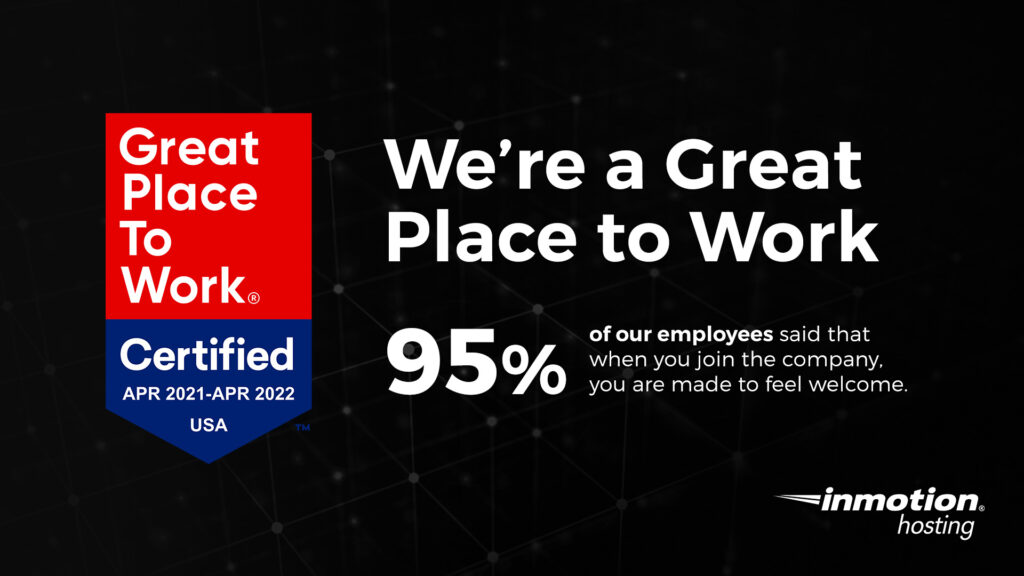 InMotion Hosting Named Great Place to Work®