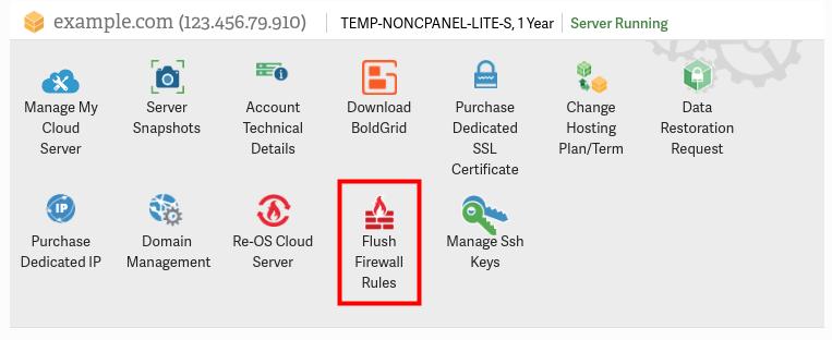 flush firewall rules