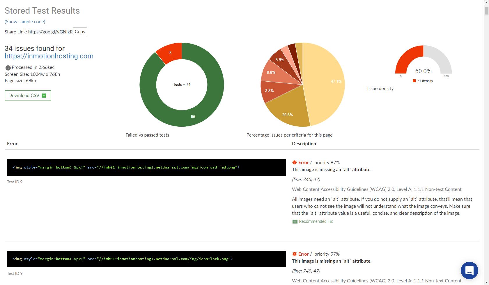 Scan results for inmotionhosting.com