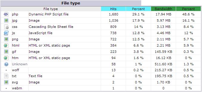 awstats file type