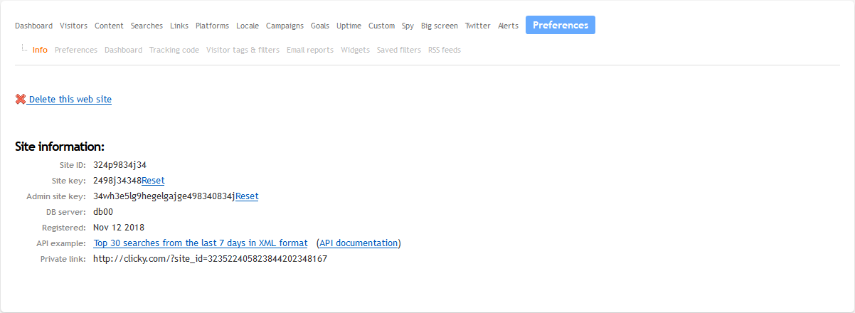 Install Clicky Analytics plugin
