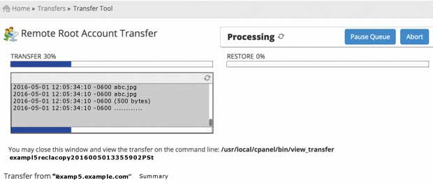 Transfer tool copies accounts from old server
