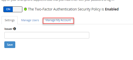 Manage my account