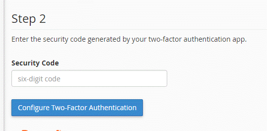 type in 6-digit code