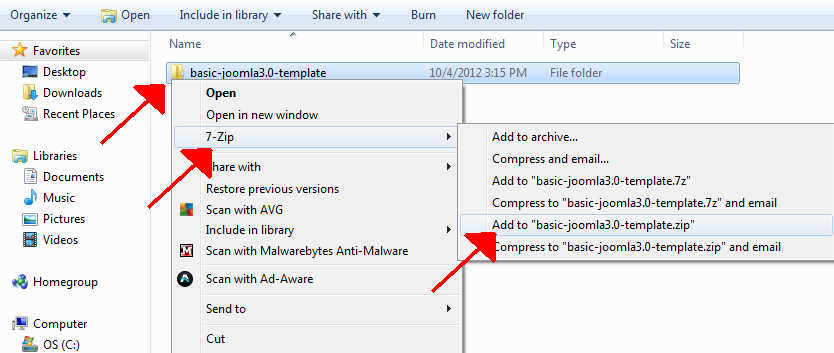 how-to-zip-template-with-7-zip