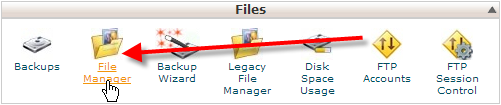 click on file manager