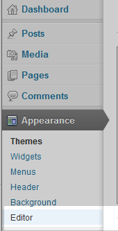 select editor menu option