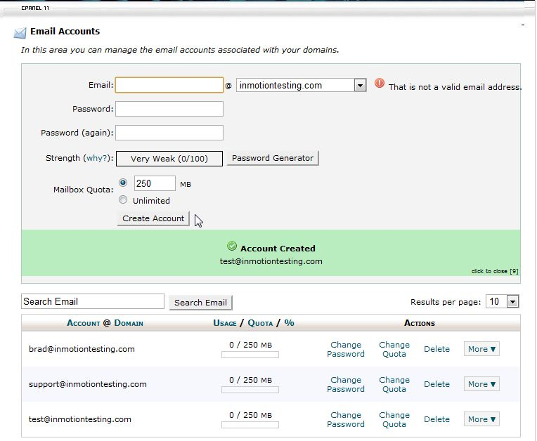 cPanel-account-created