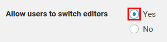allow users to switch editors