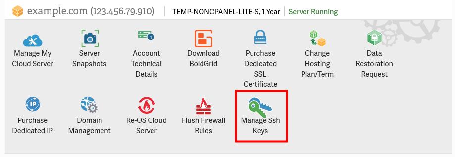 manage ssh keys