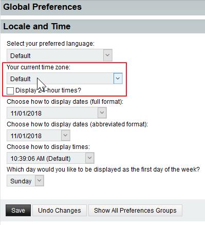 Specify a timezone