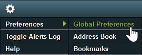 Select Preferences and Global Preferences