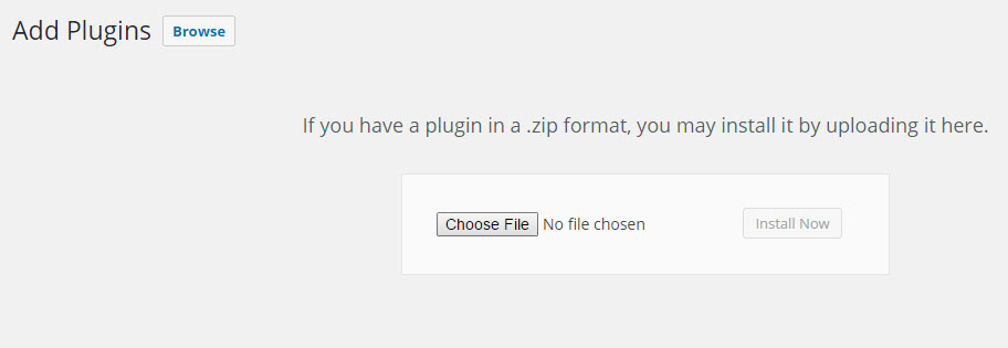 Choose the zip file