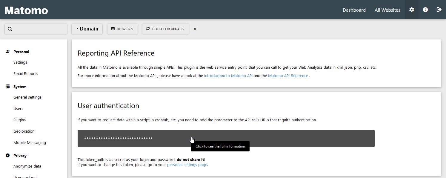 Click to show your API code