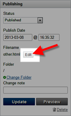 editing the filename in movable type dashboard
