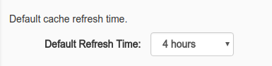 Cache Manager interface: Default Cache Time