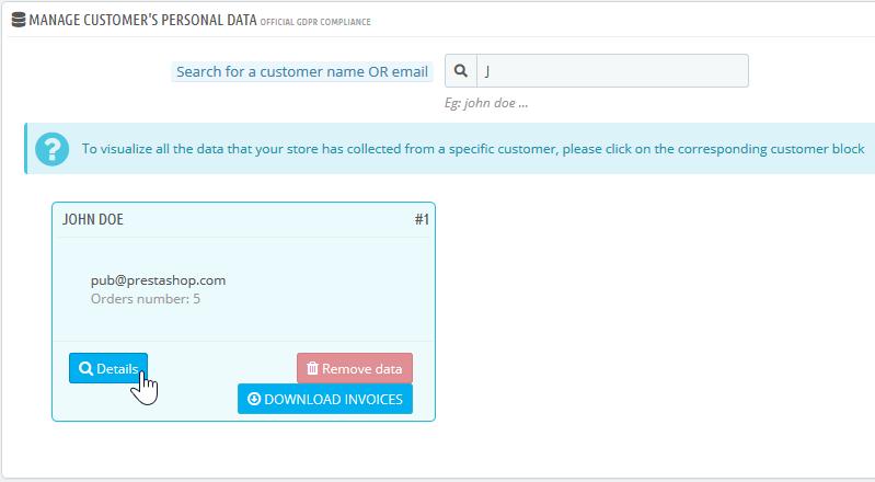 find customer details