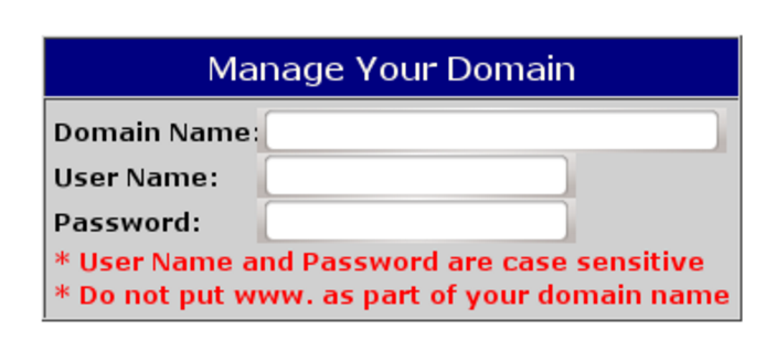 Manage your domain