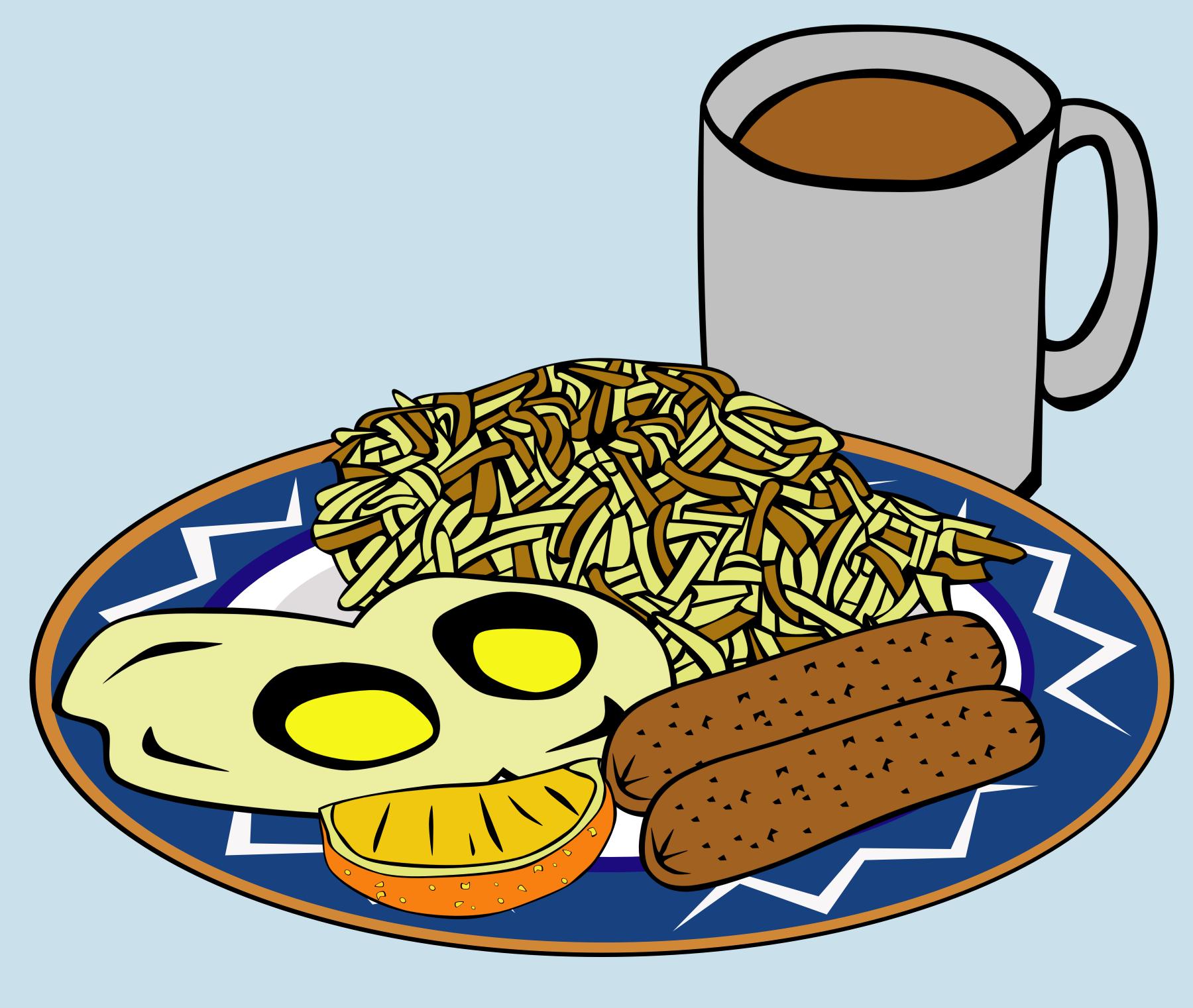 Vector fast food plate and mug
