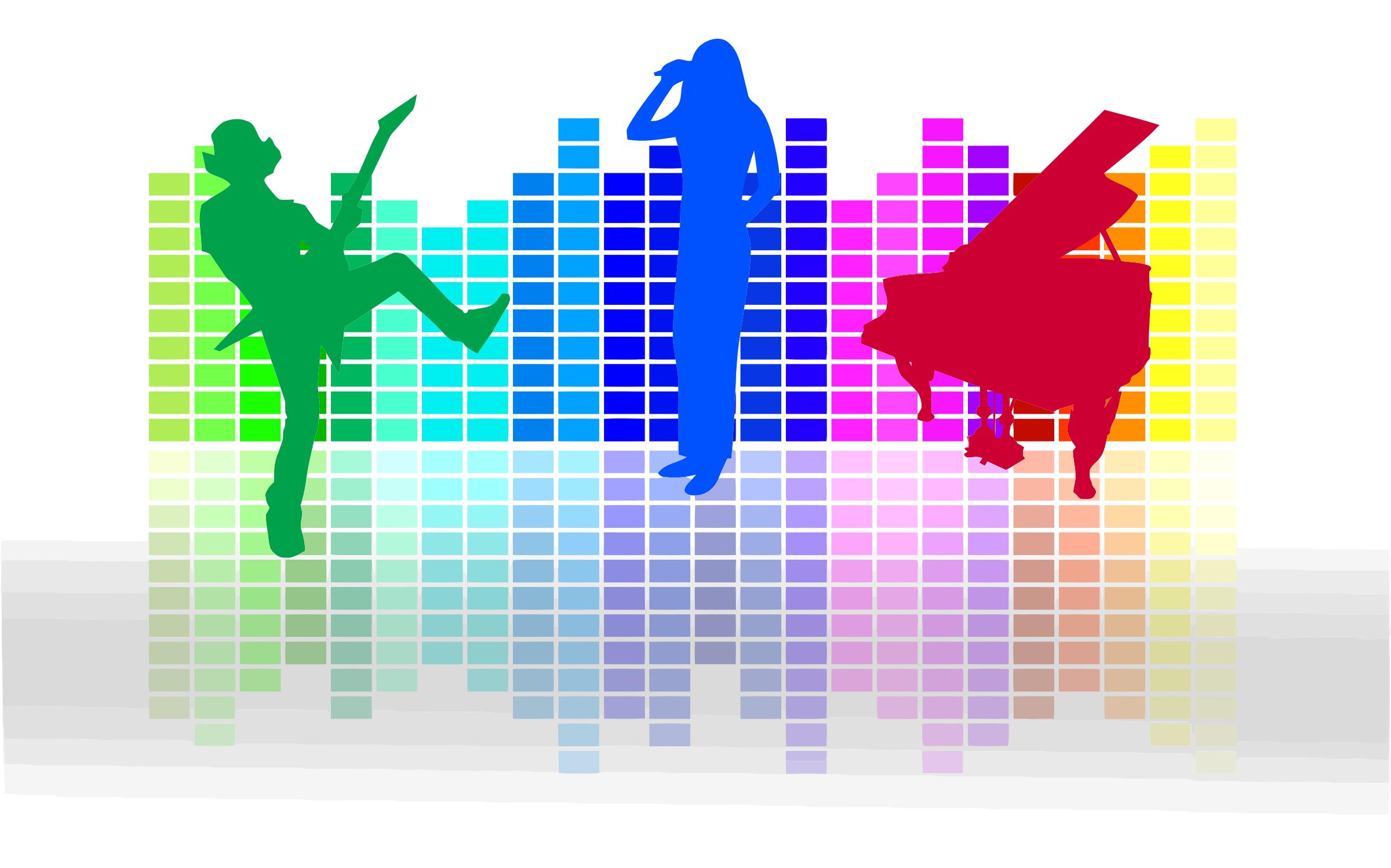 audio spectrum and musicians openclipart