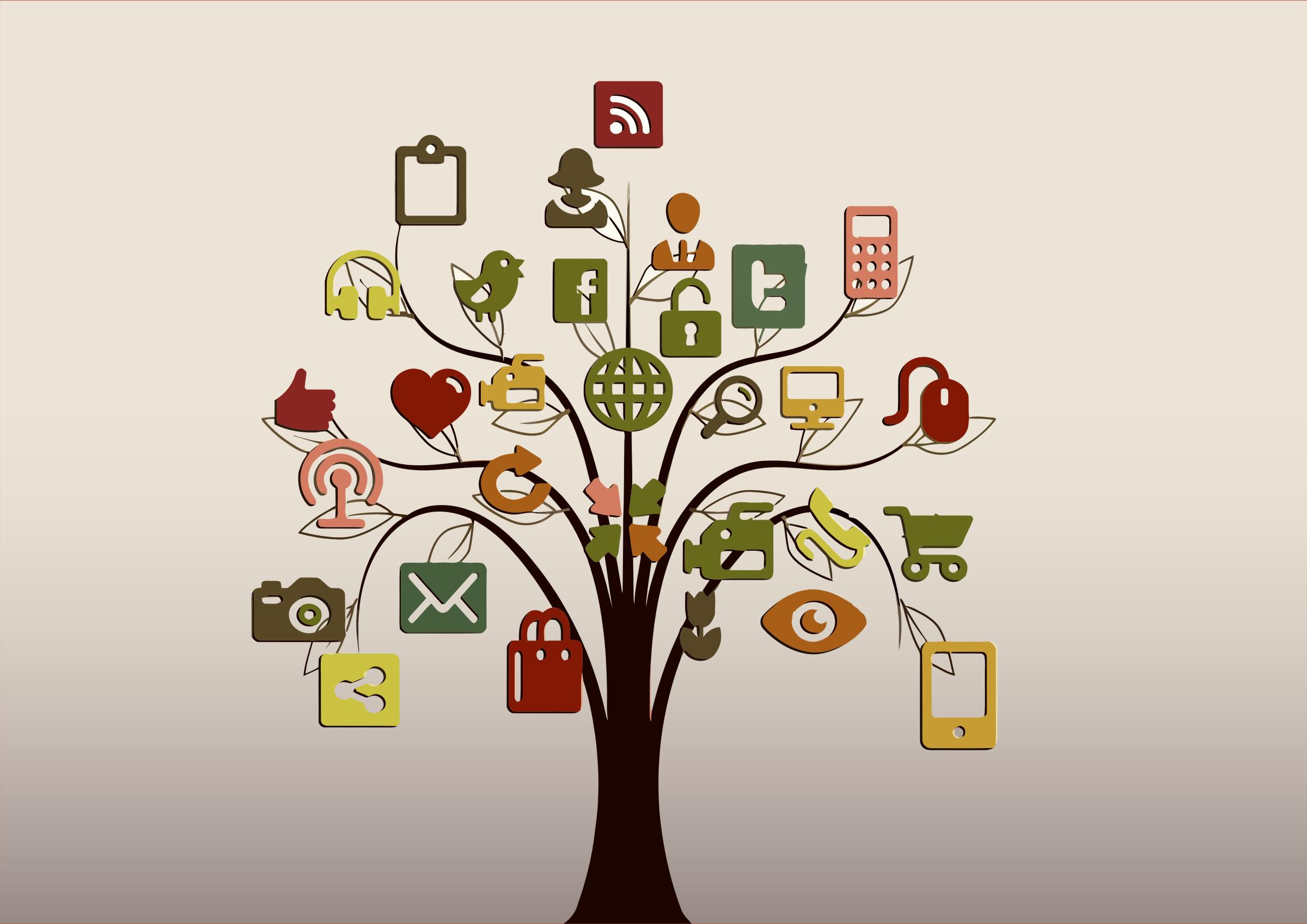 openclipart social media tree