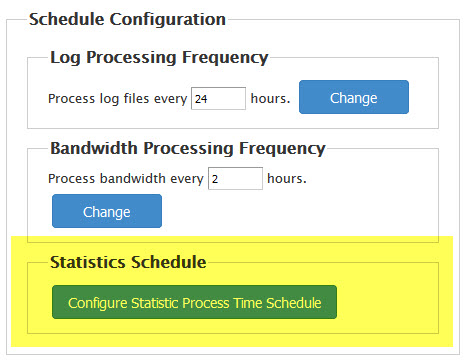 Configure Statistic process time