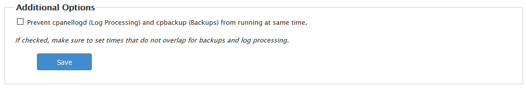 Prevent log processing and backups from running simultaenously