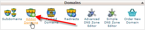 cpanel-click-on-addon-domains