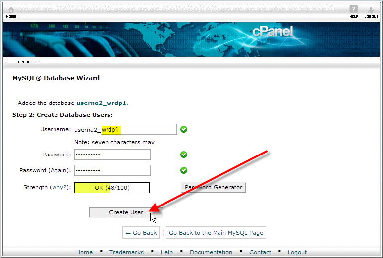 cpanel-create-a-database-user