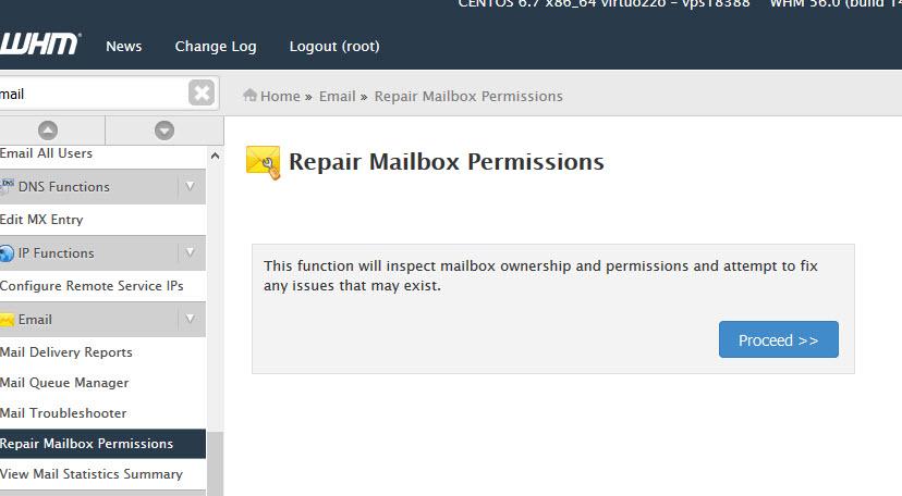Repair mailbox permissions