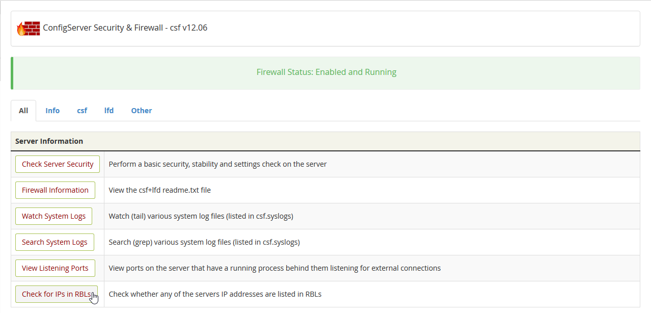 Press Check for IPs in real-time blacklist