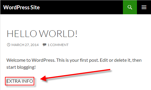 How to Create a WordPress Plugin extra info plugin on a WordPress site.